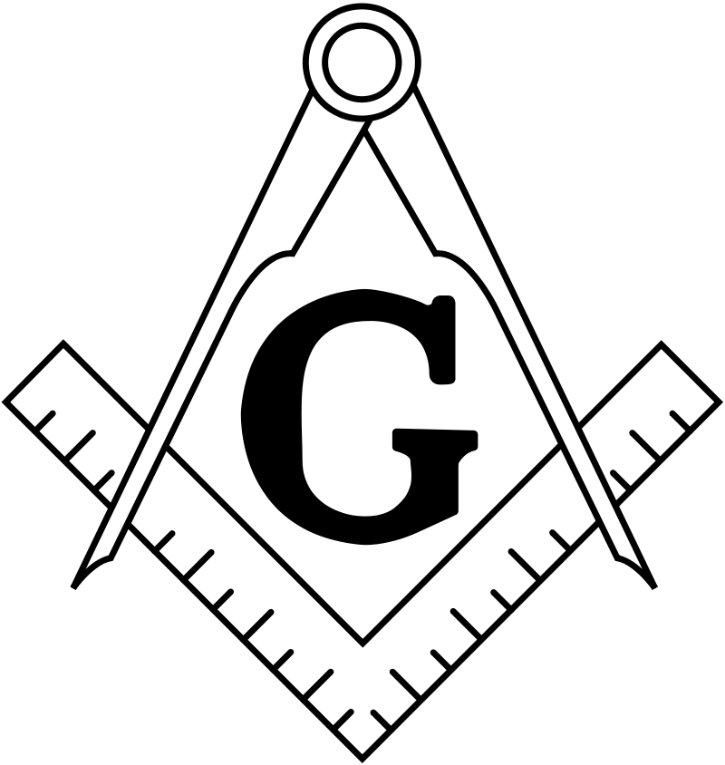 The Masonic Square and Compass